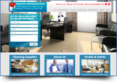 WordPress Website Design - Aquarius Cleaning Stockport