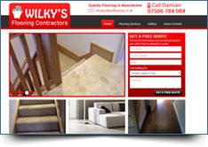 WordPress Website Design - Wilkys Flooring Tameside